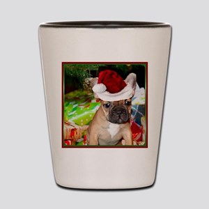 christmas French bulldog 4a Shot Glass