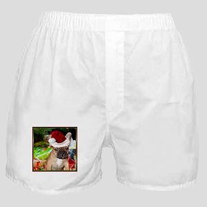 christmas French bulldog 4a Boxer Shorts