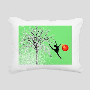 dancers christmas green  Rectangular Canvas Pillow
