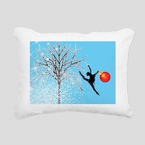 dancers christmas aqua 2 Rectangular Canvas Pillow