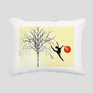 dancers christmas yellow Rectangular Canvas Pillow