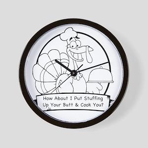 turkey butt Wall Clock