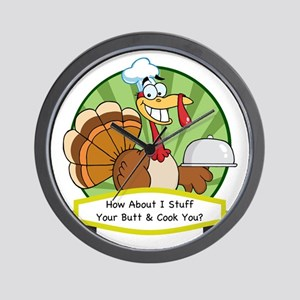 thanksgiving butt-001 Wall Clock
