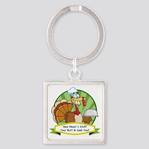 thanksgiving butt-001 Square Keychain