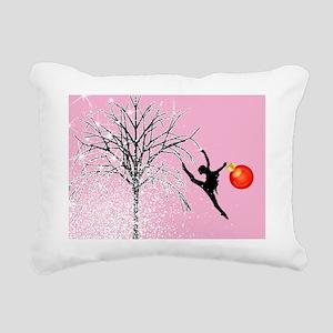 dancers christmas pink 2 Rectangular Canvas Pillow