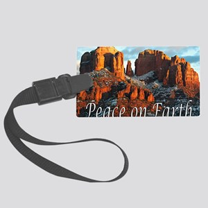 peace_on_earth_DSC1057 copy copy Large Luggage Tag