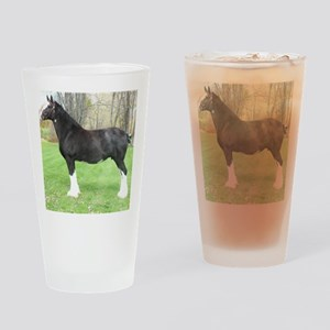 English Shire Mare Drinking Glass