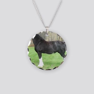 English Shire Mare Necklace Circle Charm
