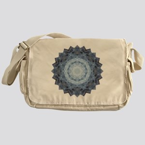 Blue Star Kachina Yoga Mandala Shirt Messenger Bag