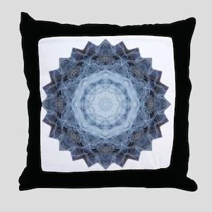 Blue Star Kachina Yoga Mandala Shirt Throw Pillow