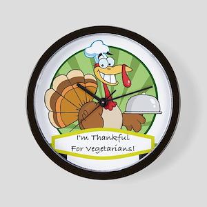thanksgiving vegetarian Wall Clock
