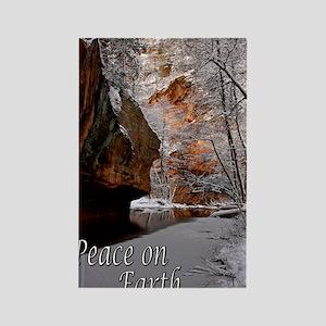 peace_on_earth_last snow_DSC0025  Rectangle Magnet