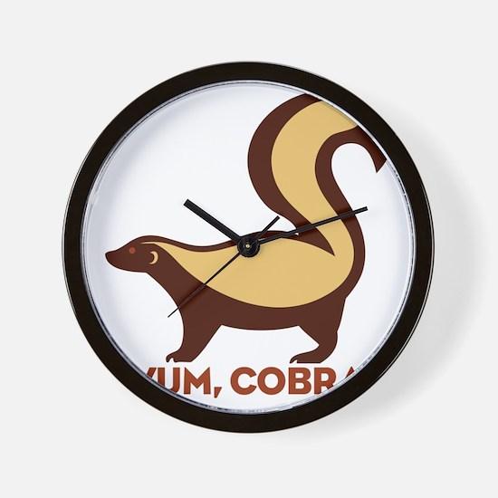 Honey Badger YUM Cobra Wall Clock