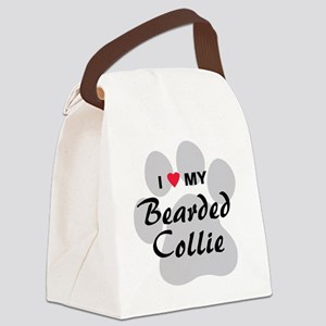I Love My Bearded Collie Canvas Lunch Bag