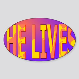 He lives blanket Sticker (Oval)