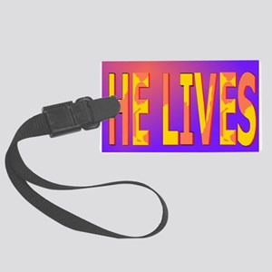 He lives blanket Large Luggage Tag