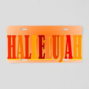 hallelujah blanket Aluminum License Plate