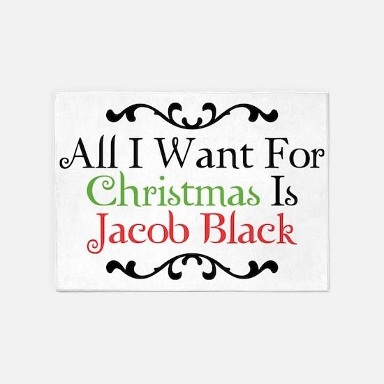 All I Want For Christmas Is Jacob B 5'x7'Area Rug