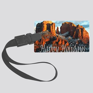 happy_holidays_DSC1057 copy copy Large Luggage Tag