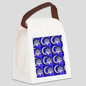 three faiths multi Canvas Lunch Bag
