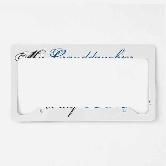 granddaughter License Plate Holder