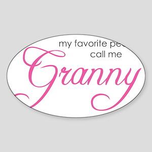 GrannyFavoritePeople Sticker (Oval)