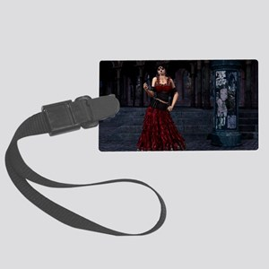 Day of the Dead Crimson Evening Large Luggage Tag