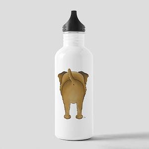 BorderTerrShirtBack Stainless Water Bottle 1.0L
