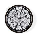 Celtic Knotwork Dragons Wall Clock