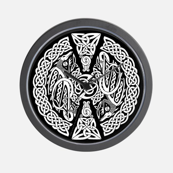 Celtic Knotwork Dragons Wall Clock