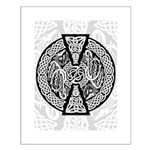 Celtic Knotwork Dragons Small Poster