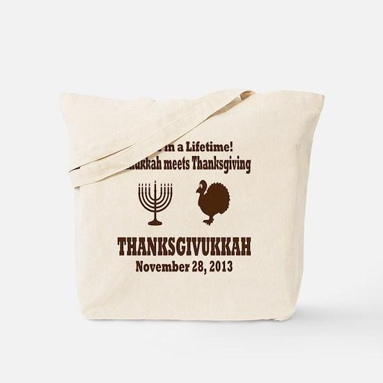 Thanksgivukkah Thanksgiving meets Hanukka Tote Bag