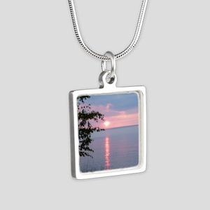 LKSu1010 Silver Square Necklace