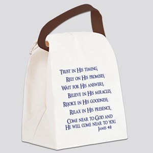 navy, James 4_8 Canvas Lunch Bag