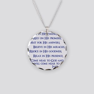 navy, James 4_8 Necklace Circle Charm