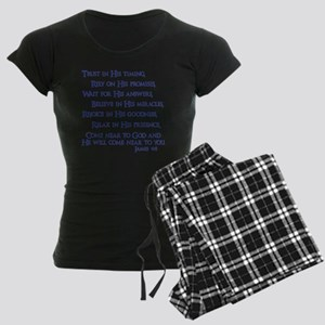 navy, James 4_8 Women's Dark Pajamas