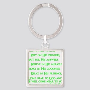 neon green, James 4_8 Square Keychain