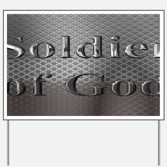 soldier of God license plate Yard Sign