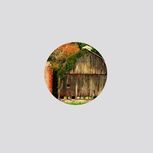 hocking hills barn Mini Button
