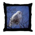 Snowy White Owl Throw Pillow