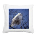 Snowy White Owl Square Canvas Pillow