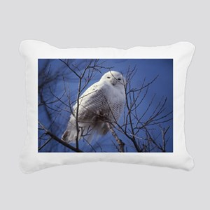 Snowy White Owl Rectangular Canvas Pillow