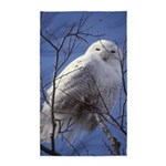 Snowy White Owl Vertical 3'x5' Area Rug