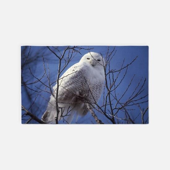 Snowy White Owl 3'x5' Area Rug