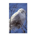 Snowy White Owl Vertical 35x21 Wall Decal