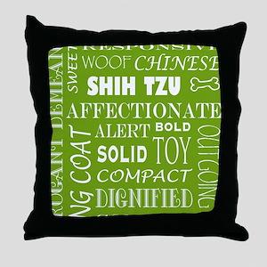 SHIH TZU_edited-2 Throw Pillow