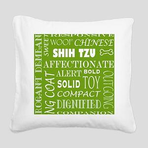 SHIH TZU_edited-2 Square Canvas Pillow
