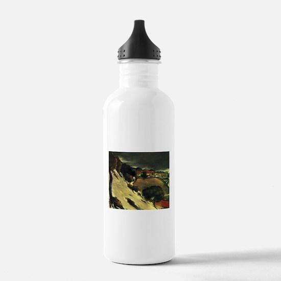 Snowmelt in LEstaque - Paul Cezanne - c1870 Water