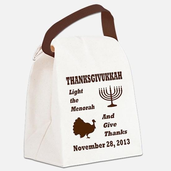Thanksgivukkah - Thanksgiving mee Canvas Lunch Bag