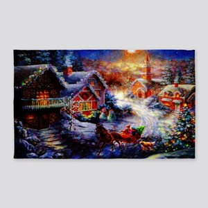 Pastel Christmas Greeting copy 3'x5' Area Rug